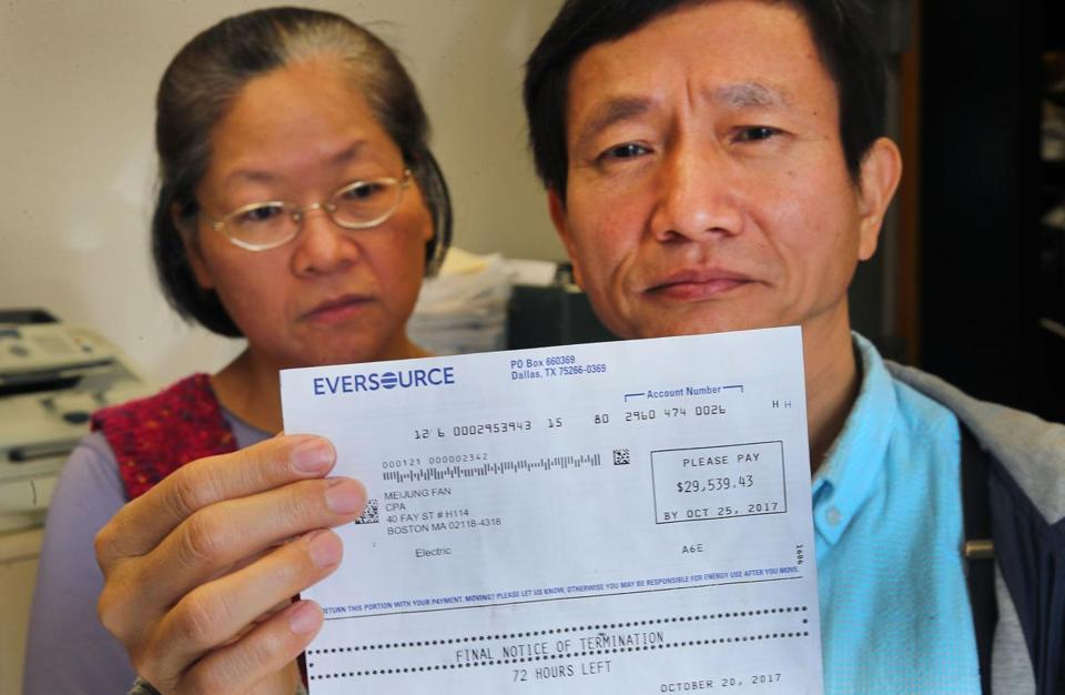 Keh-Jiann Pan and his wife, Meijung, got an astounding electric bill from Eversouce.